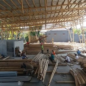 Asali Bali bamboo Warehouse in Gianyar, Bali, Indonesia
